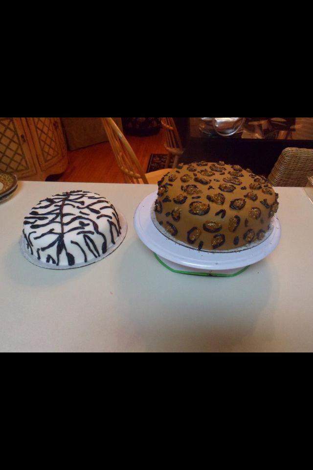 Zebra and Cheetah Cakes :)