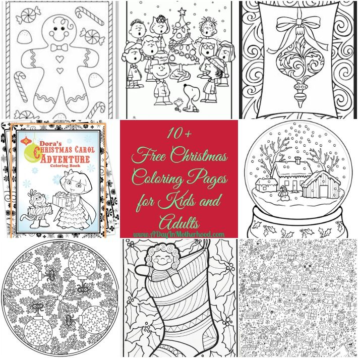 Free Christmas Coloring pages for Kids and Adults | Color me happy ...