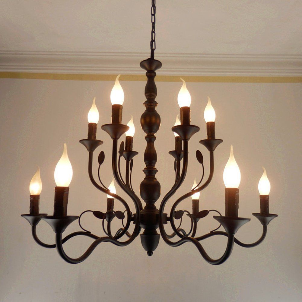 Poersi Antique Candle Chandeliers For Dining Rooms Chain