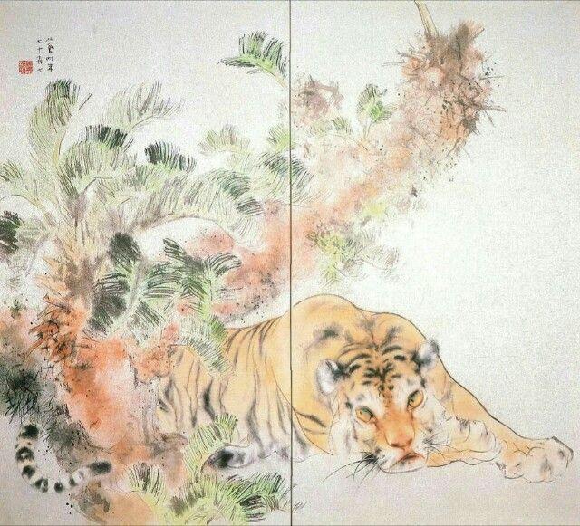 「竹内栖鳳 虎」の画像検索結果