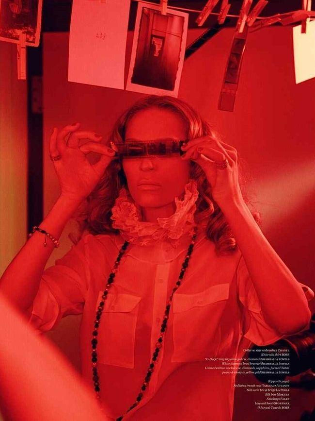 VS. MAGAZINE Uma Thurman & Marcus Schenkenberg by Ellen von Unwerth. Vibe Dabelsteen, Fall 2014