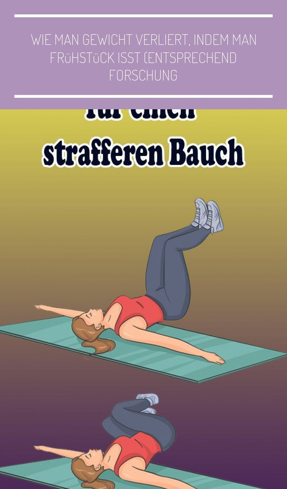 4-minütiges intensives Bauchmuskeltraining für einen strafferen Bauch #fitness food plan 4-minütiges...