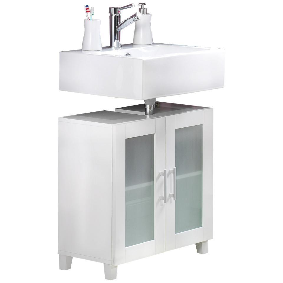 Waschbeckenunterschrank Lisa 60x60 Weiss Danisches Bettenlager Waschbeckenunterschrank Schrank Kleiner Schrank
