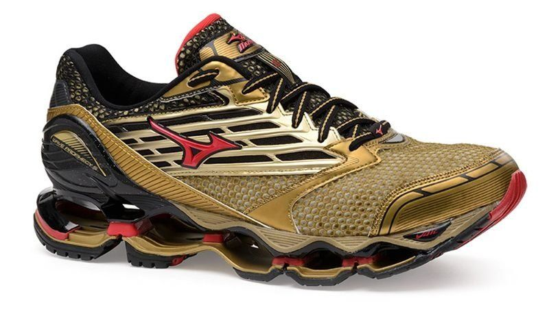 Tênis Mizuno Wave Prophecy 5 Golden Runners - Dourado - ShoeFit  8a2ef4804e2ea