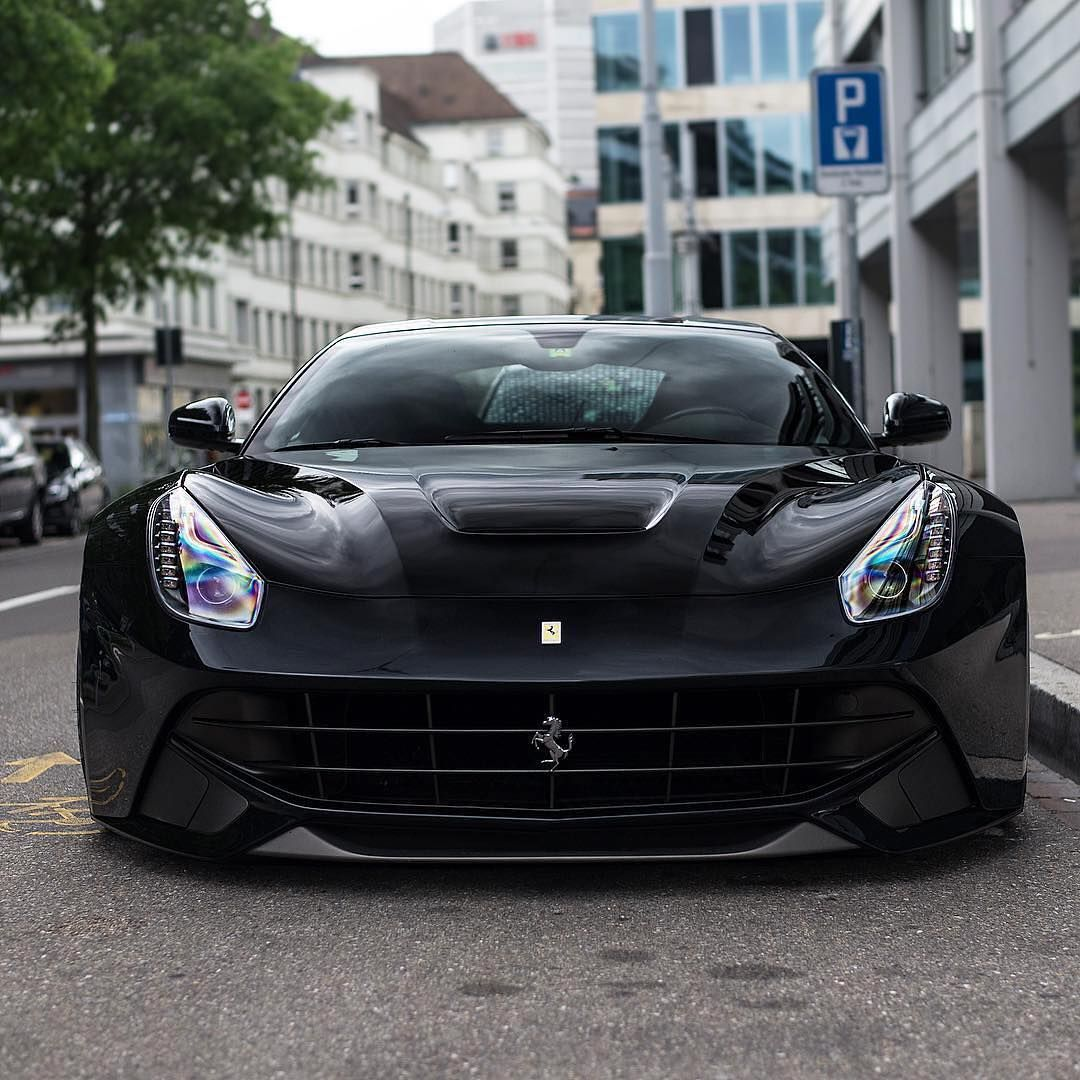 Luxury Lineup On Instagram Thoughts On Black Ferraris For 20 Of Halifornia Apparel Use Luxury20 Follow Lux Sports Car Brands Super Cars Ferrari F12