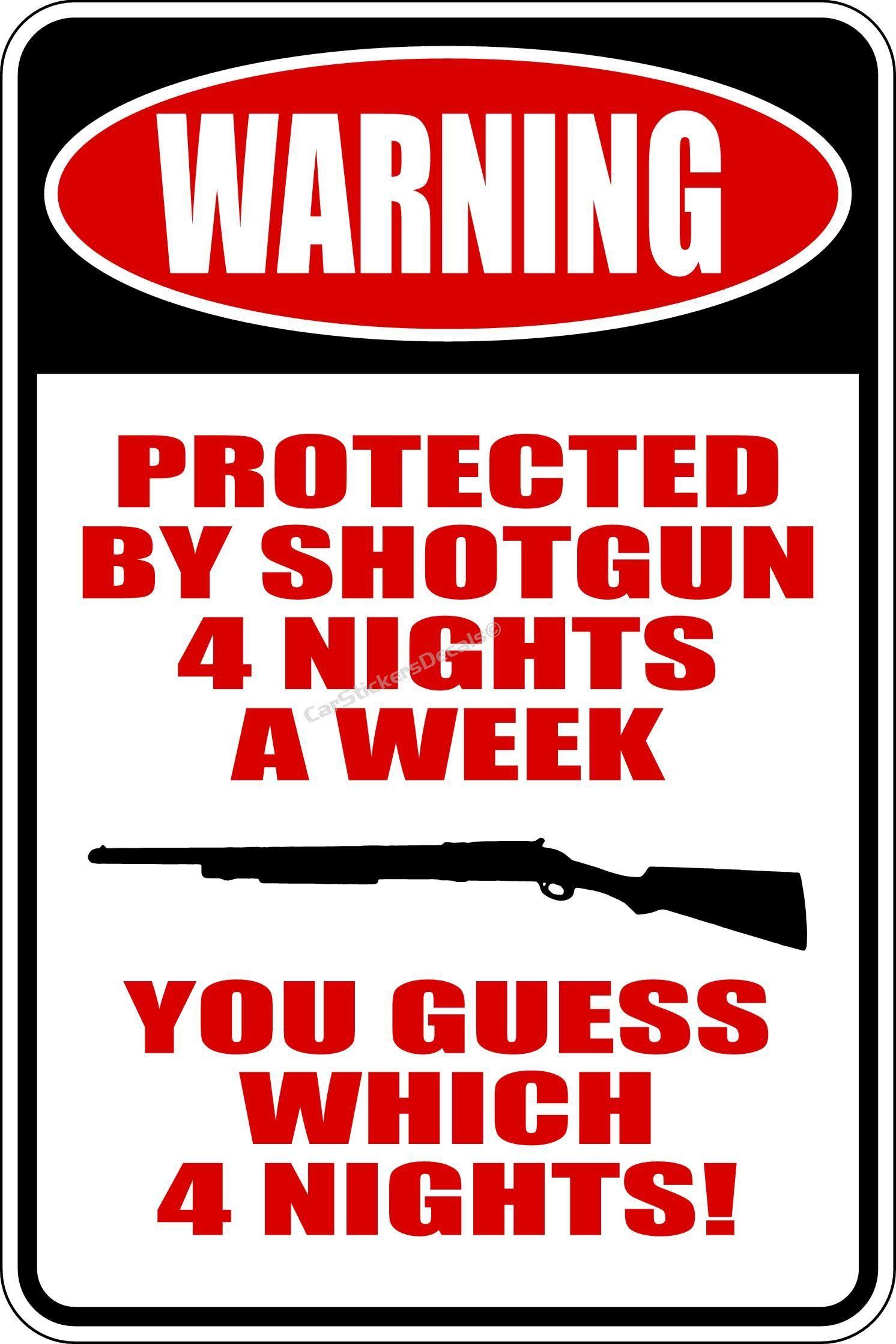 No Trespassers Beware Decal Shotgun Warning Home Business Protection Sticker
