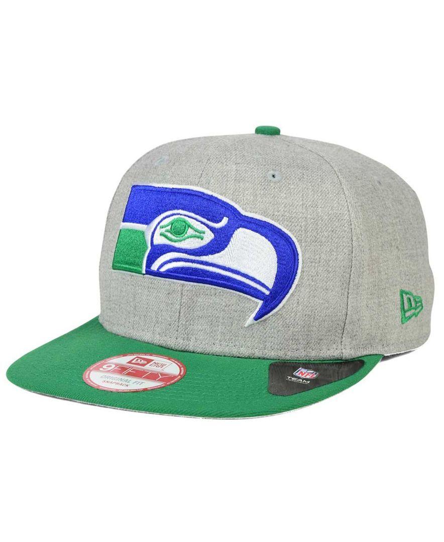 b49b9c89e02 New Era Seattle Seahawks Grand Snapback Cap - Sports Fan Shop By Lids - Men  - Macy s