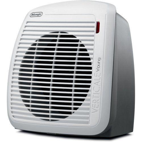 Delonghi Hvy1030 1500 Watt Fan Heater Gray With White Face Plate