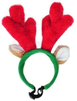 Zippypaws Holiday Antlers Dog Headband Small Mud Bay Dog Antlers Antler Headband Dog Reindeer Antlers