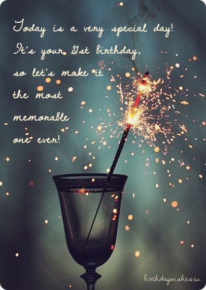 Happy 21st Birthday Wishes For Friend (With Images)   BirthdayWishes.eu