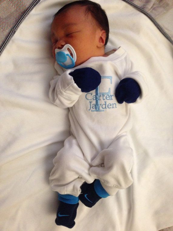 Baby Boy Going Home Outfit. Personalized with by ...