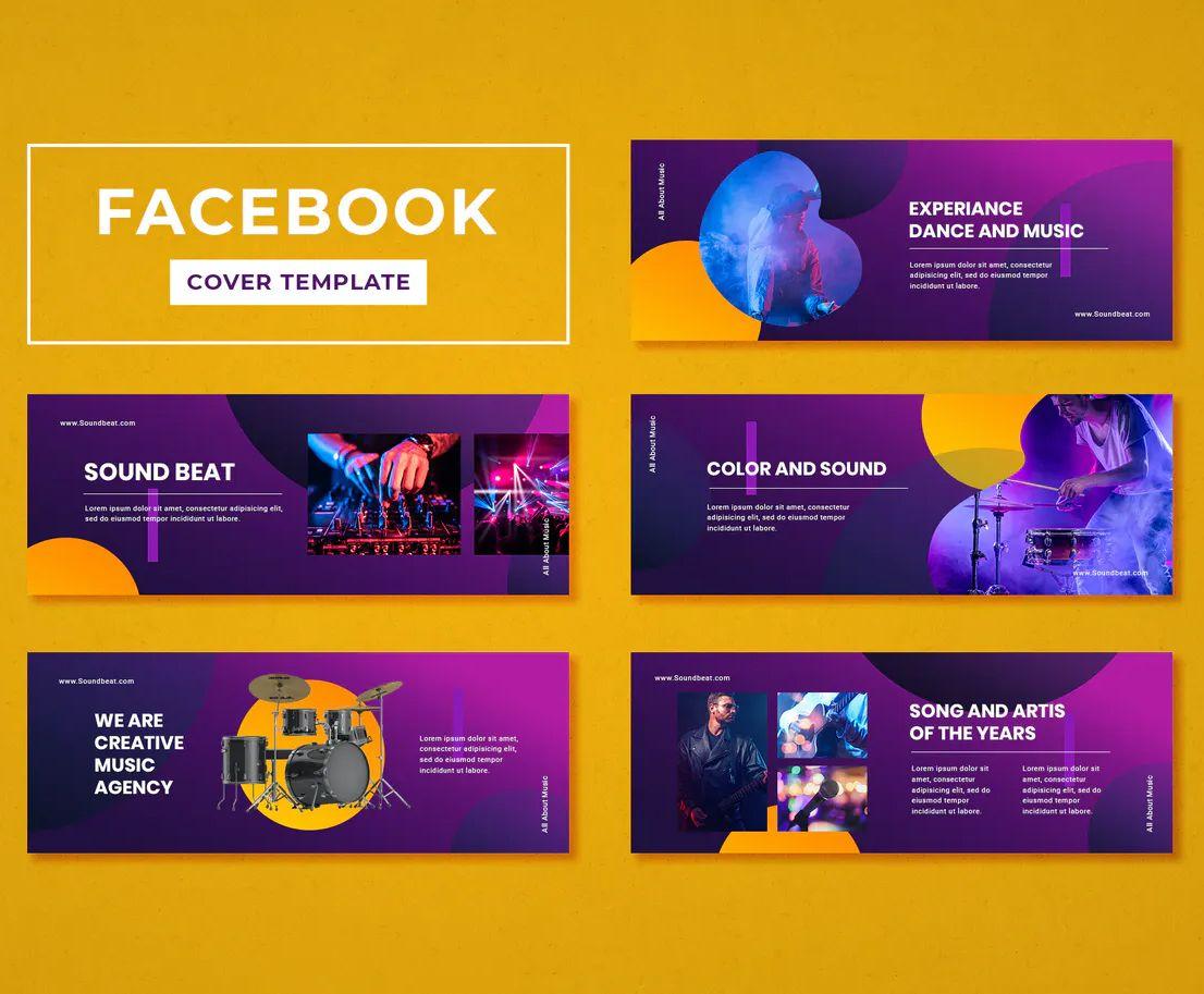 Facebook Cover Template Music Psd Facebook Cover Template Cover Template Facebook Cover