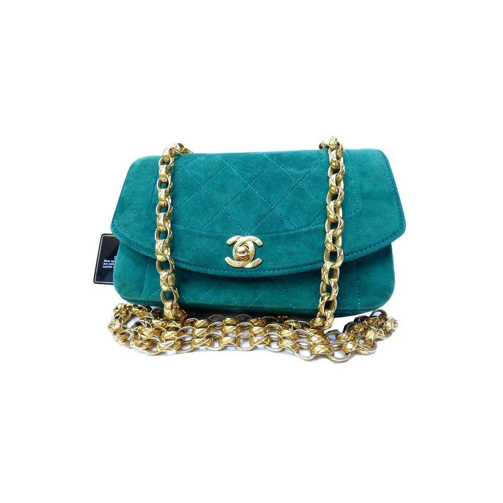 chanel Matelasse Women s Leather Shoulder Bag Green Chanel Bags 4919ee55be