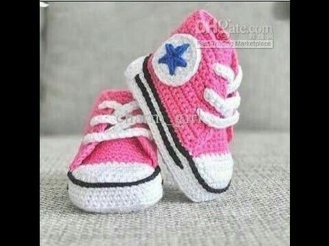 Baby Schoentjes Haken Botas Pinterest Crocheted Slippers And