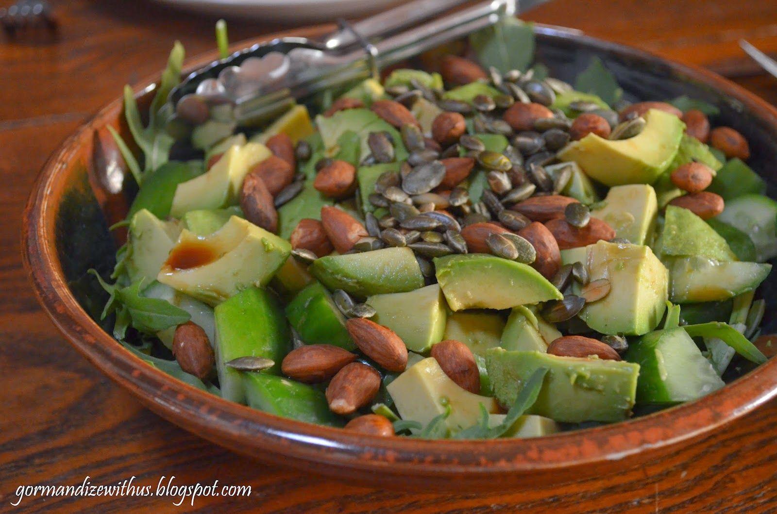 Avocado, Rocket and Almond Salad by Gormandize
