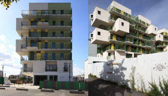 Koz Completes 28 Green Literally And Yellow Stacked Apartments Social Housing Units In France Inhabitat Sustainable Design Innovation