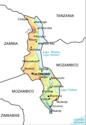 Cartina Giografica Africa.Malawi Cartina Geografica Geografia Africa Livingstone