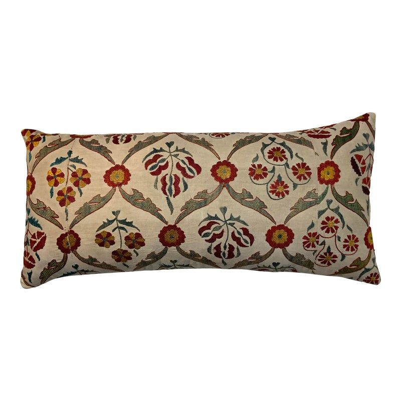 Vintage Suzani Hand Embroidered Silk