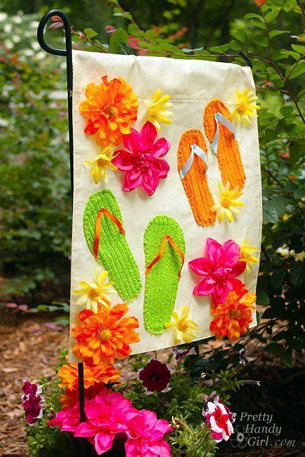 Summer Garden Flag From A Dollar Store Placemat Garden Flags
