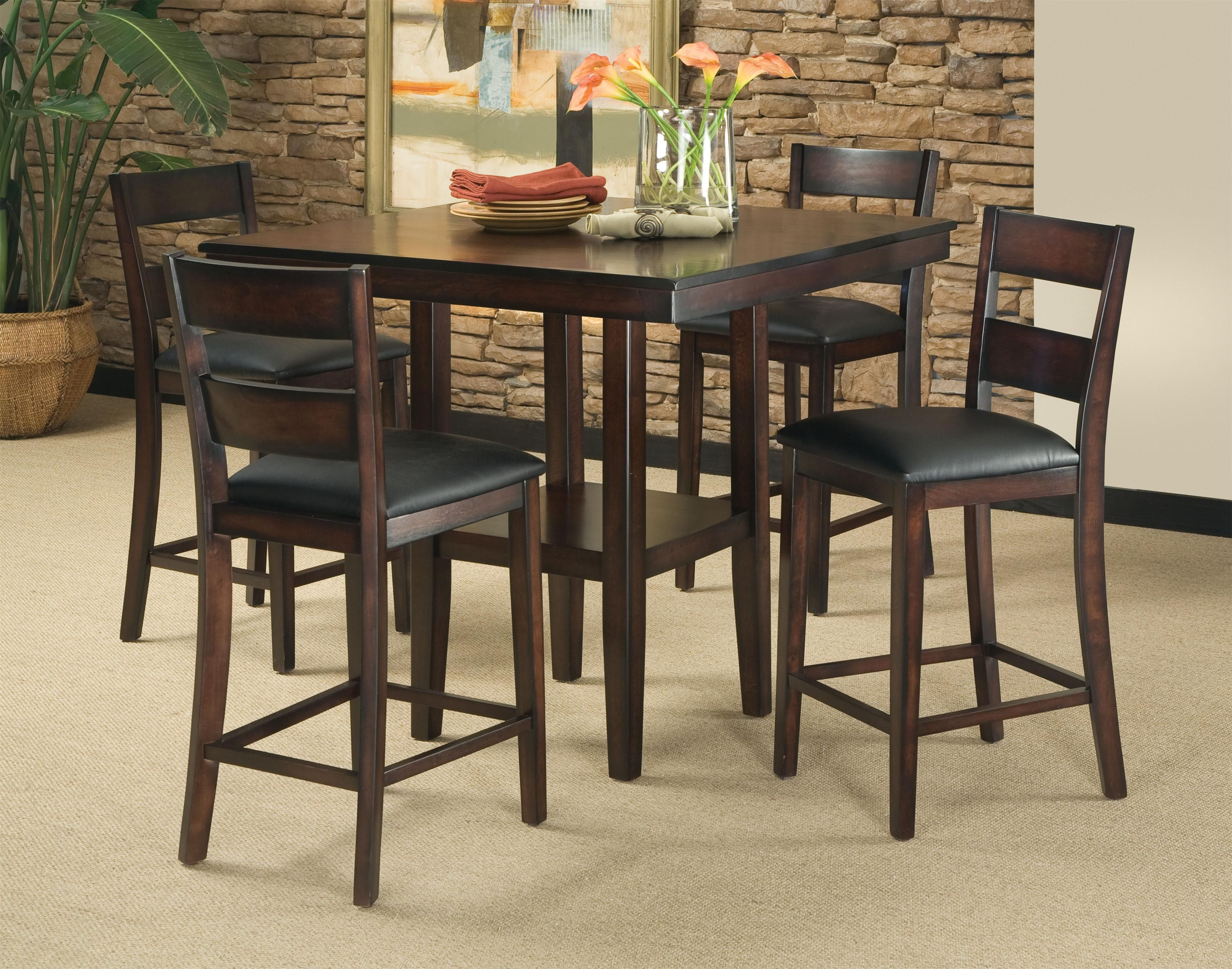 Pendwood 5-Piece Contemporary Counter Height Table and Stool Set by ...
