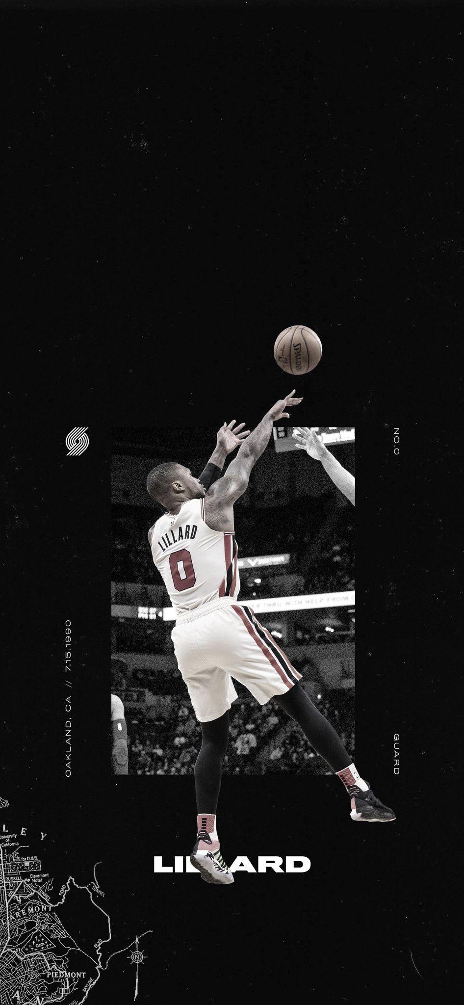 Damian Lillard Wallpaper In 2020 Nba Wallpapers Damian Lillard Basketball Design