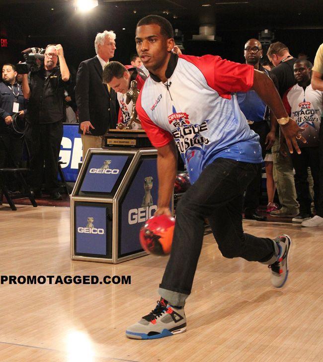 c91777fd428 Chris Paul Bowling in the Air Jordan 4 Retro | Celebrity Kicks | Air ...