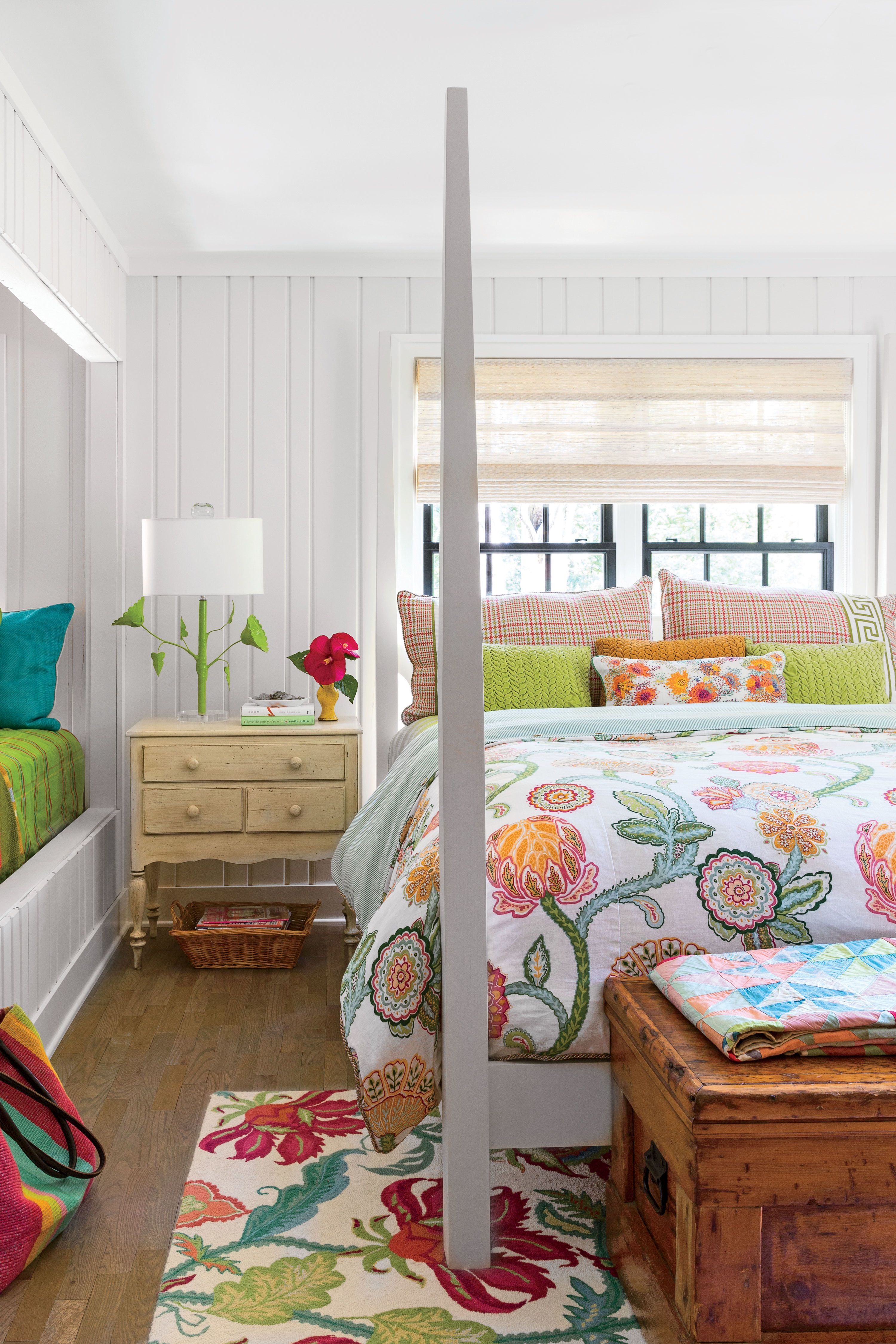 This light filled Michigan bedroom features a snug