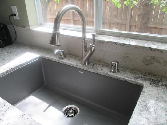 Blanco Precis Undermount Granite Composite 32 In Super Single Bowl Kitchen Sink White 440150 At The Home Depot Mobile