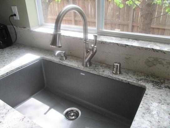 blanco precis undermount granite