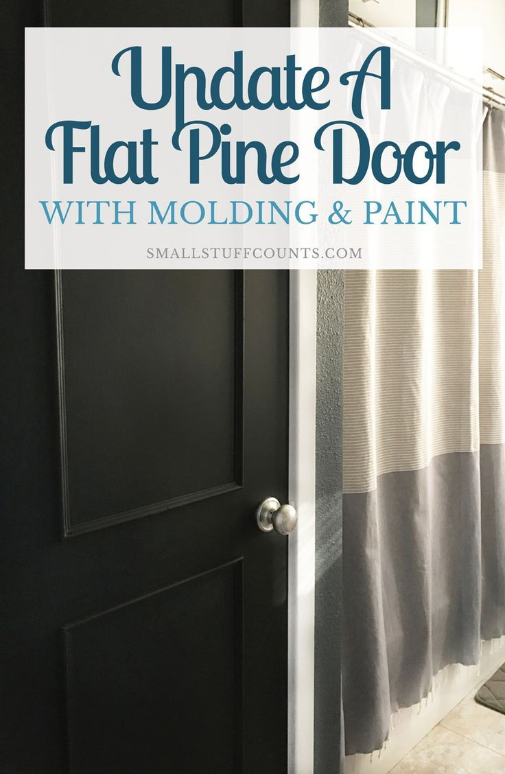 A DIY Door Tutorial To Update A Flat Door With Trim & Paint