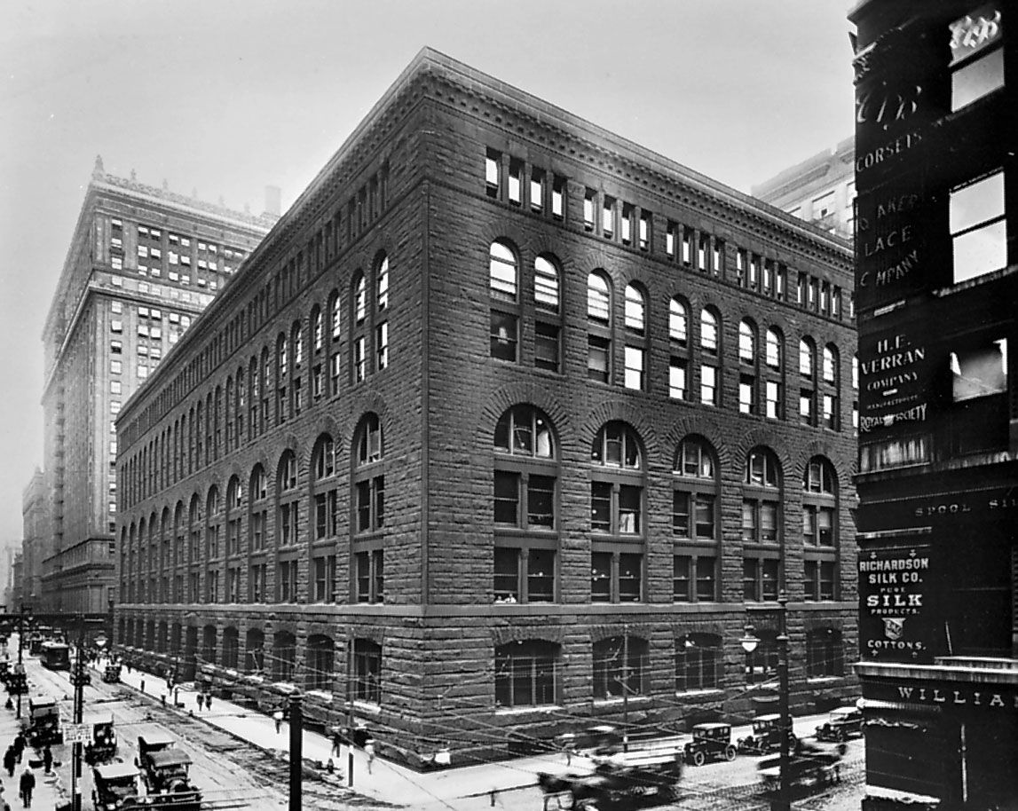 H H Richardson Marshall Field And Company Store Chicago 1885