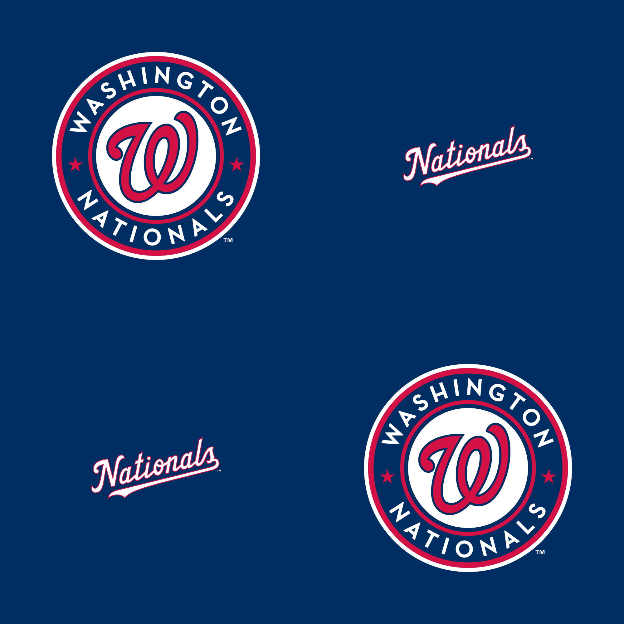 Washington Nationals Logo Pattern (Blue) Officially