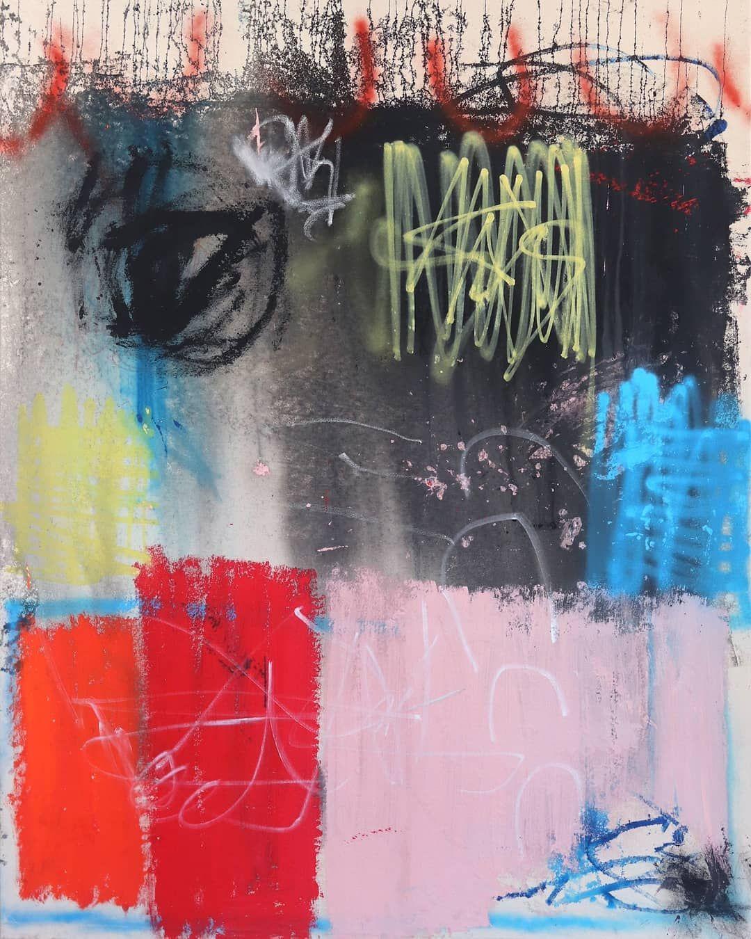 Sarah Svetlana - Sumter Avenue North  Artworks like this and more are available on our website. Link in bio  . . . . . #artwork #originalart #buyart #artspacewarehouse #newart #abstract #abstractart #gesturalabstraction #spraypaintart #largeart #losangeles #laartgallery #artgallery #multicolor