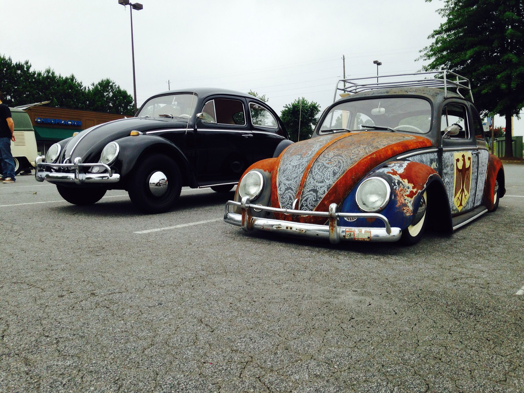 Two 1964 beetles. Black 1 is stock... The rat is not!