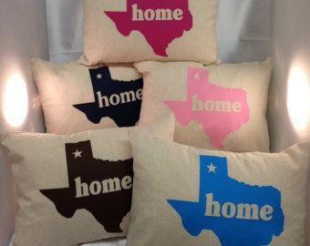 Texas home throw pillow decor lone star state Texan pride
