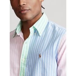 Photo of Shirt with a fashionable color combination, slim fit by Polo Ralph Lauren in pink for men Ralph