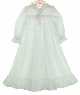 Timeless White Nightgown Little Girls Night Gown