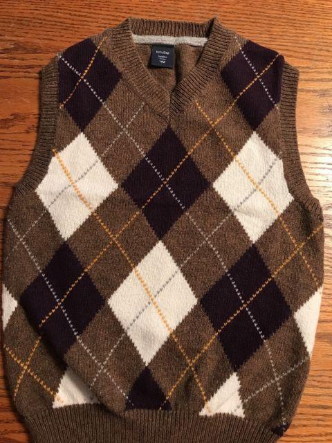 0c3fcaf79746 Baby Gap Toddler Boys Size 5T Argyle Sweater Vest