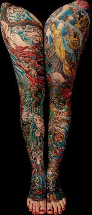 underwater tattoo, mermaids, pirates, fish, koi, coral, ocean, cityunderwater tattoo, mermaids, pirates, fish, koi, coral, ocean, city of atlantis tattoo