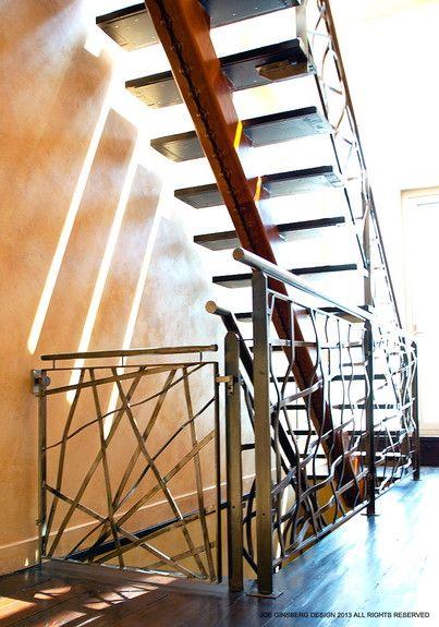 Joe Ginsberg Design - Interior Designer - New York - Contemporary - Transitional - Staircase - Linear - Ornate - Design - Neutrals - Wood Floor