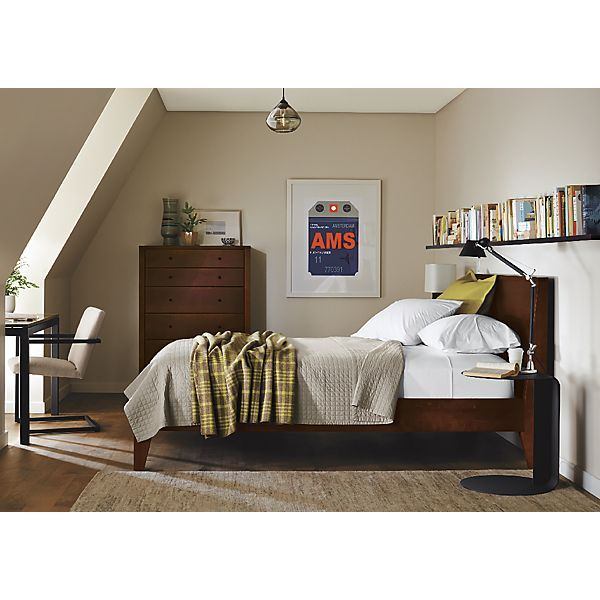 Calvin Bed in Mocha Bedroom - Small Spaces, Big Style - Room & Board ...