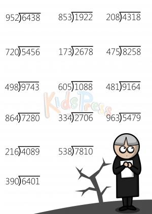 Braniac Challenge Four Digit Dividends Kidspressmagazine Com Studying Math Fun Math Worksheets