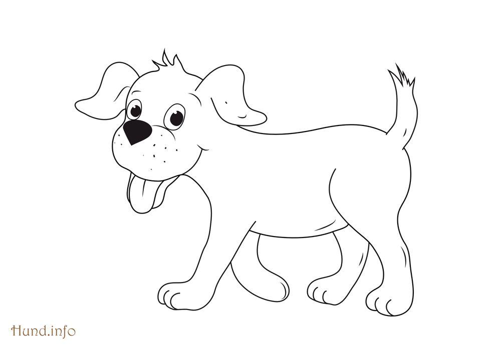 AUSMALBILD HUND 02 | Ausmalbilder | Pinterest | Ausmalbilder hunde ...