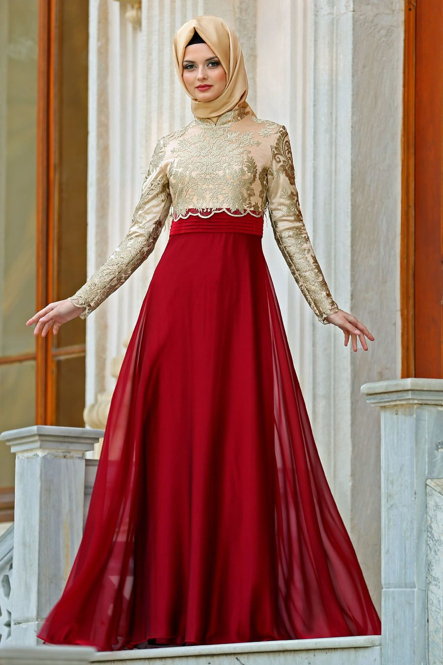 Söz İçin Tesettür Elbise Modelleri 2019