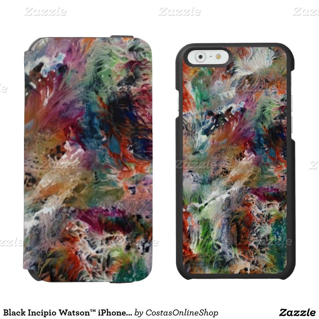 Black Incipio Watson™ iPhone 6 Wallet Case, Blank Incipio Watson™ iPhone 6 Wallet Case, http://www.zazzle.com/costasonlineshop*