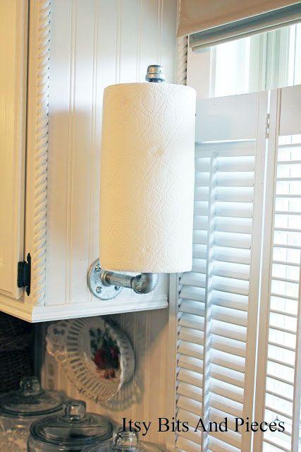 5 diy paper towel holders - Kitchen Towel Holder Ideas