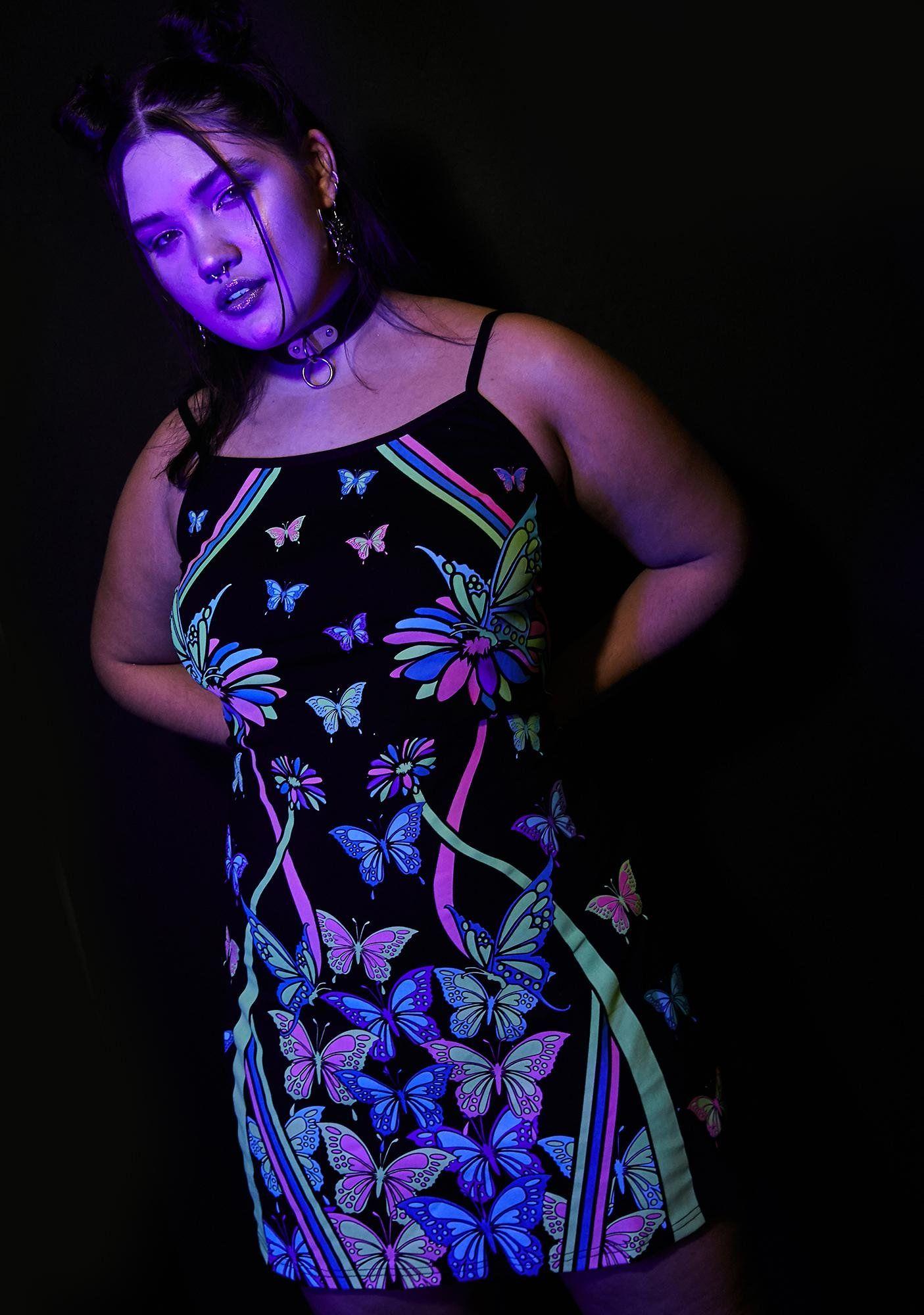 Wild Sonic Synergy Glow In The Dark Dress Dark Dress Dresses Mini Black Dress [ 2000 x 1405 Pixel ]
