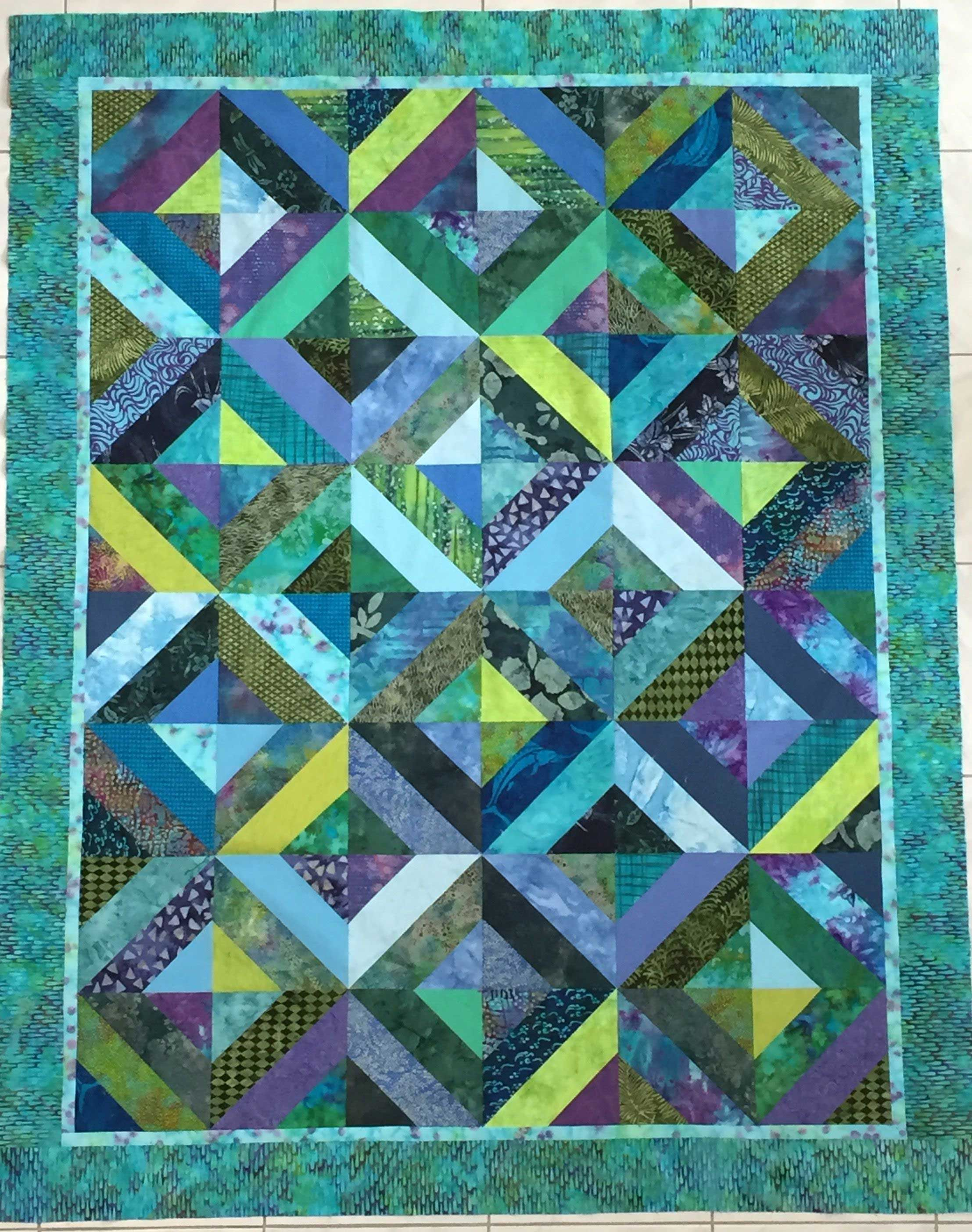 36 Picturesque Jelly Roll Batik Quilts Patterns