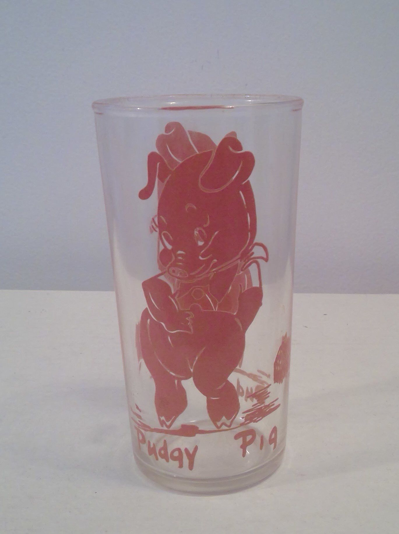 Vintage Pudgy Pig Drinking Glass Pink Pig Cartoon Character Etsy Pig Lover Gifts Pig Cartoon Vintage Cartoon