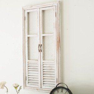 Wood Shutter Window with Chicken Wire | Wood shutters ...
